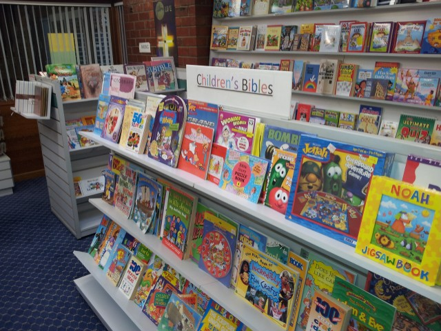 Children's books, including Bibles and Bible stories