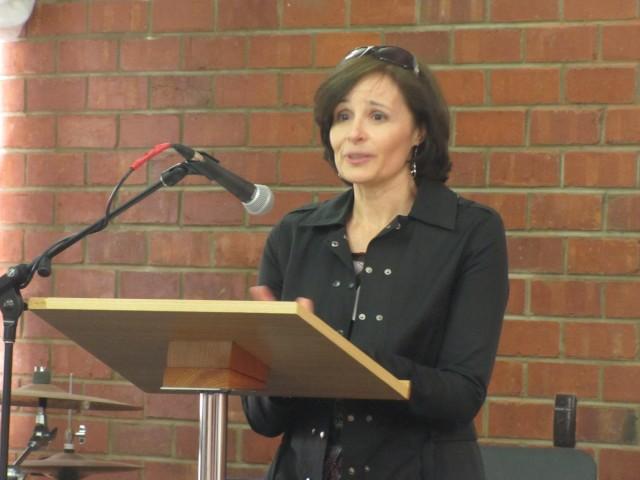 Guest speaker Karen Bowden