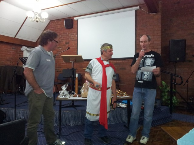 Pete, Steve and Roger running our fun night